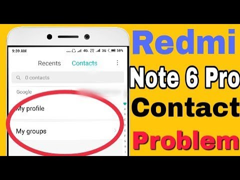 Fix Contact Problem || Contact Not Showing Problem in Xiaomi Redmi Note 6  Pro
