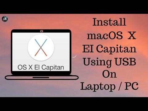 How To Install Mac OS X El Capitan 10.11.6 Using USB In windows  PC/Laptop