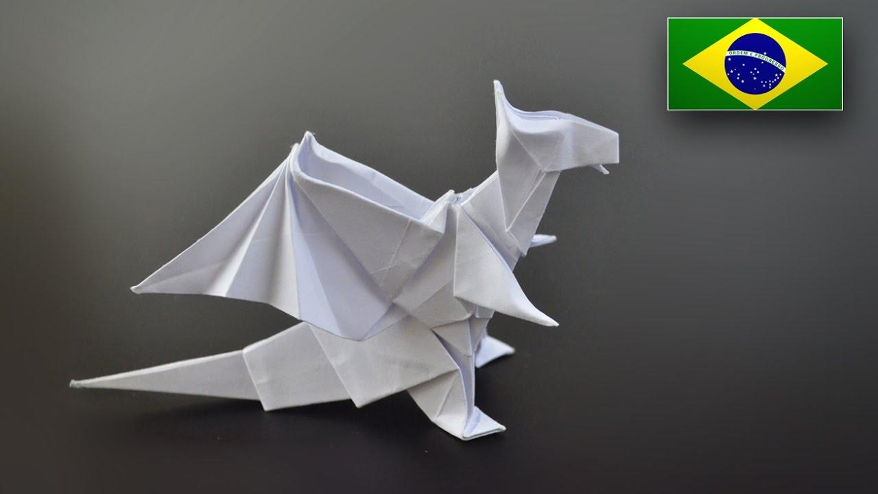 Extremamente Origami: Dragão (Jo Nakashima) - Instruções em Português BR - YouTube OO61