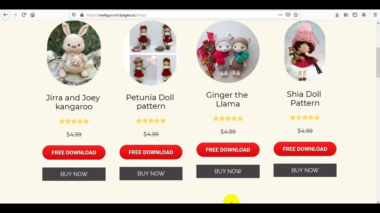 Little Lora Crochet Doll Free download button - Laydiy | 720x1280