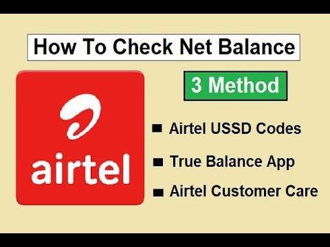 Airtel me 4G data balance kaise check kare 