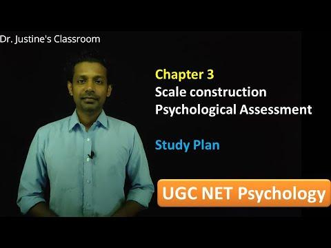 Chapter 3: Psychological Assessment Study Plan || NET (psychology) || Dr.Justine's Classroom