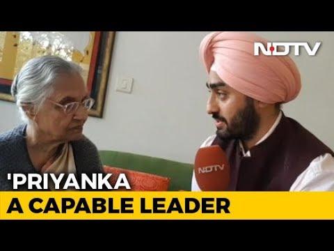 """Happy Moment"": Sheila Dikshit On Priyanka Gandhi Vadra Joining Politics"