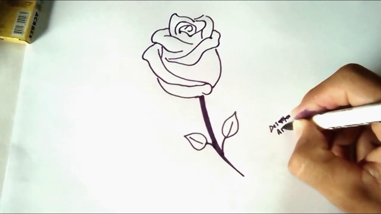 Como Desenhar Uma Rosa Sem Esboco E Sem Erro Desenhos
