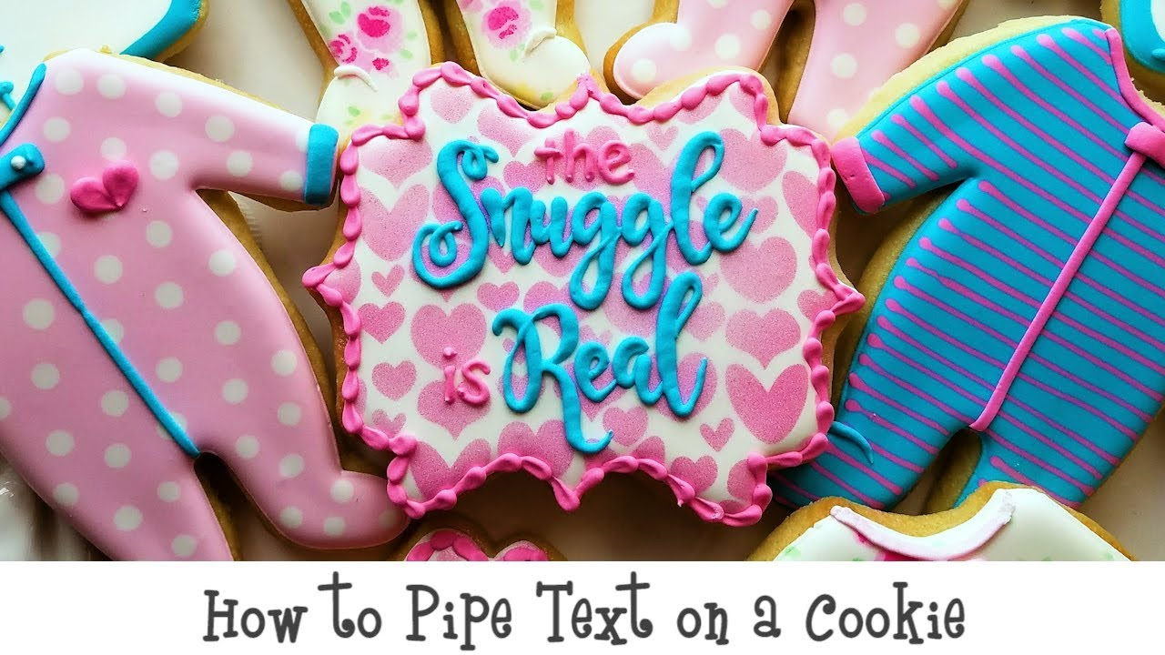 Flour Box Bakery — How to Pipe Text on Cookies