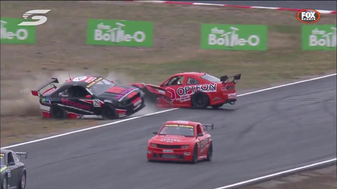 Aussie Racing Cars Winton 2018 Race 1 Huge Crash - YouTube