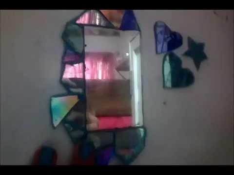 Como decorar espejos con cd youtube - Como decorar espejos ...