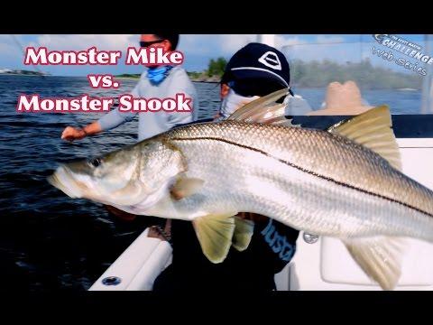 Monster Mike Vs. Monster Snook In Stuart Florida