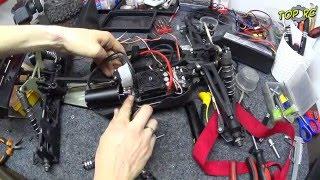 Ремонт БК мотора - заміна підшипників! Виставляємо зазор і перевіряємо накат моделі Team Durango dex8t