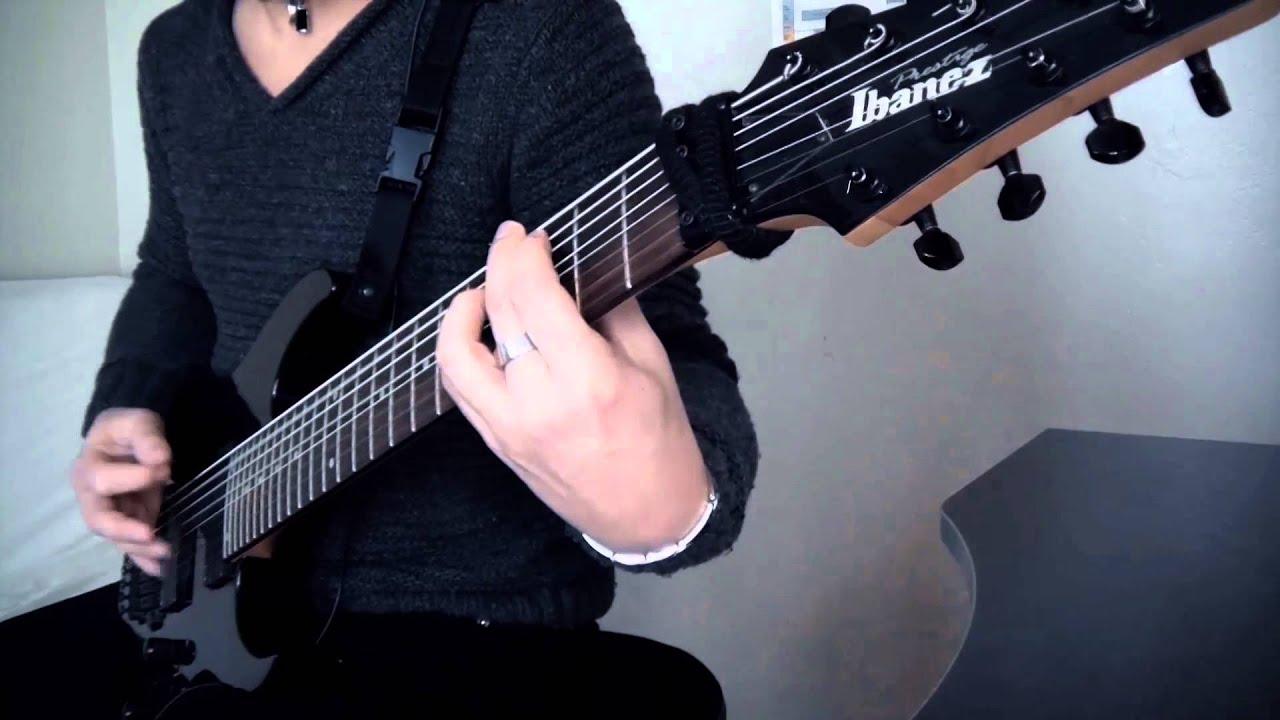 jamyz lindhun 8 string guitar test ibanez rg2228 youtube