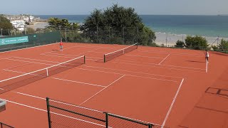 FEAT OF ARTIFICIAL CLAY - St IVES TENNIS CLUB ADVANTAGE REDCOURT INSTALLATION
