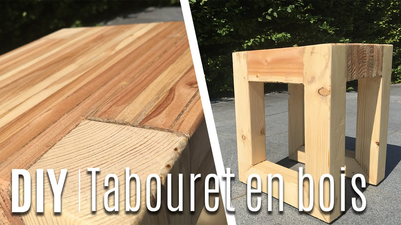 fabriquer un tabouret table de nuit avec du bois de palette youtube. Black Bedroom Furniture Sets. Home Design Ideas