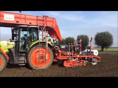 Vlaming dubbelnet plantmachine 1500mm Loonbedrijf van Dun