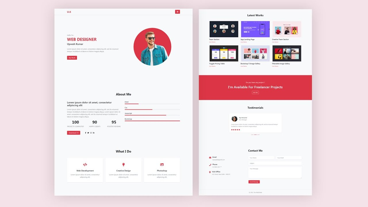 Personal Portfolio Website using only Bootstrap 5