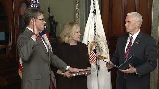 Rick Perry Sworn In As Energy Secretary- Full Ceremony And Speech