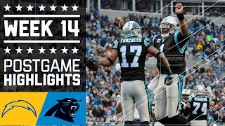 Chargers vs. Panthers | NFL Week 14 Game Highlights