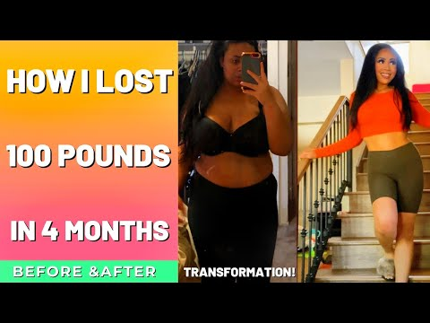 I LOST 100 POUNDS IN FOUR MONTHS| 100LB Weight Loss Transformation | Before And After | Rosa C