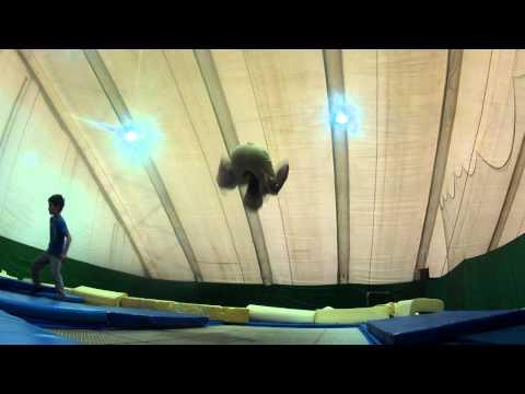 Батут день в Планета Спорт на позняках Ковалев Вячеслав и Валерий Фисюн.