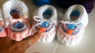 Repeat youtube video Zapatitos a crochet