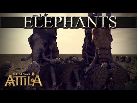 Total War Attila Слоны |