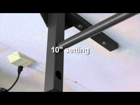 Short ceiling pull up bar chin up bar for low ceilings