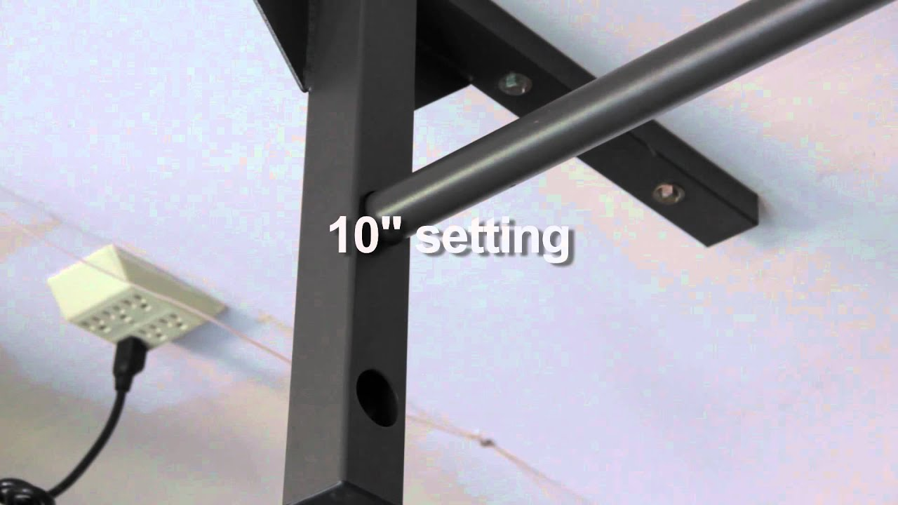 Short ceiling pull up bar chin for low ceilings