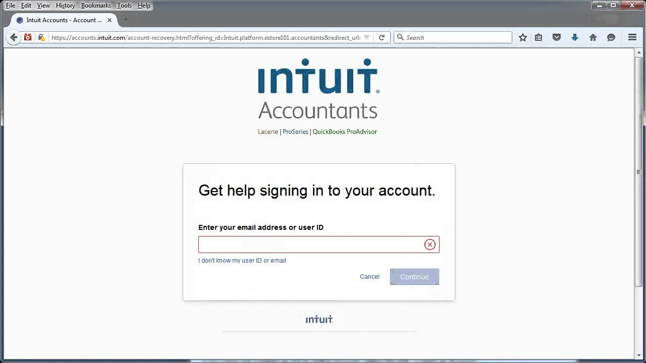 Creating Your ProSeries Website Login