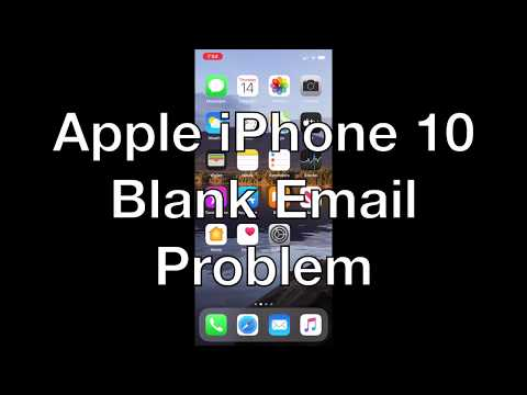 Apple iPhone Blank Email Cannot be Deleted