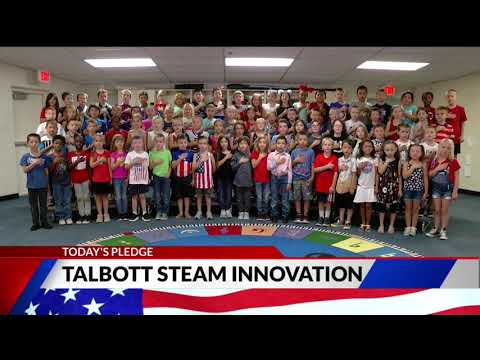 Talbott STEAM Innovation School second grade Pledge of Allegiance