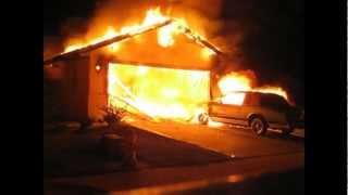 Working Garage Fire- Stockton, CA