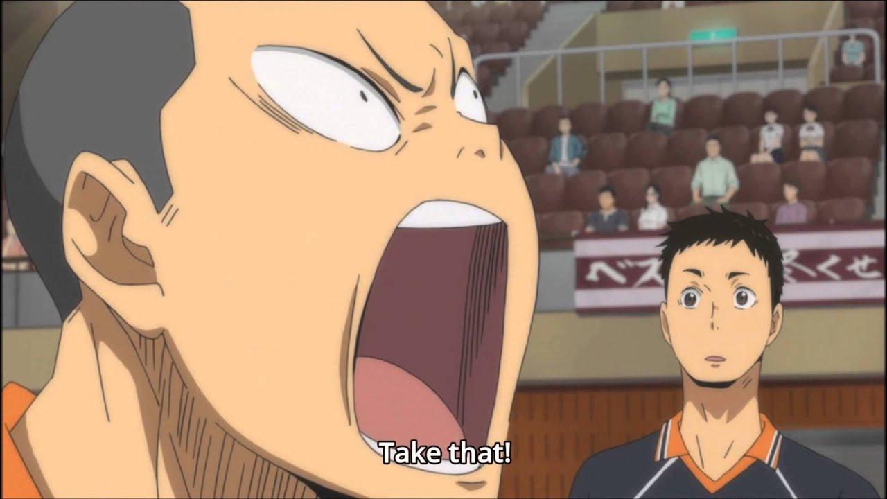 Haikyuu funny scenes Hinata SuuUper service!!! sub indo