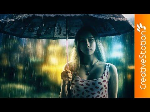 Girl in the rain - Speed art (#Photofiltre studio X ) | CreativeStation