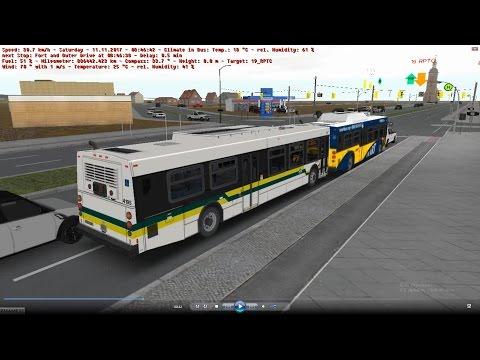 omsi 2 tour (1022) 底特律 Detroit DDOT 19 Outer Drive - Rosa Parks Transit Center @ NewFlyer D40LF