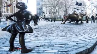 Man in Suit Humping Defiant Girl Statue Goes Viral