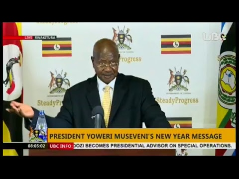 President Museveni's New year address -Live stream