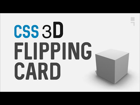 CSS 3D Flipping Card - How To Transform 3D rotate/flip a card with CSS