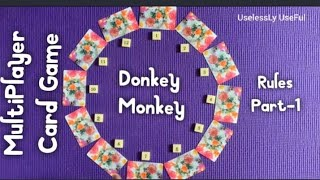 Download Mp3 Donkey Monkey Card Game Rules - Fun & Easy Multiplayer Card Game   Lockdown