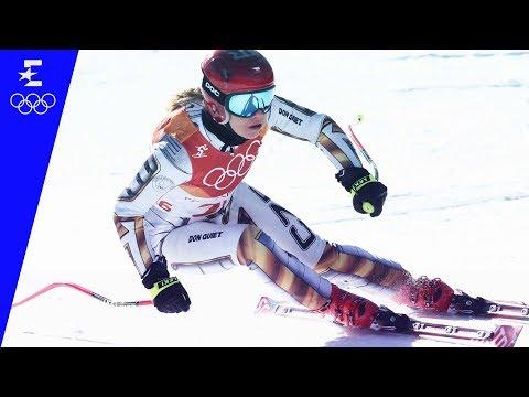 Ester Ledecká, 1. zlato na Ladies' Super-G | Pyeongchang 2018
