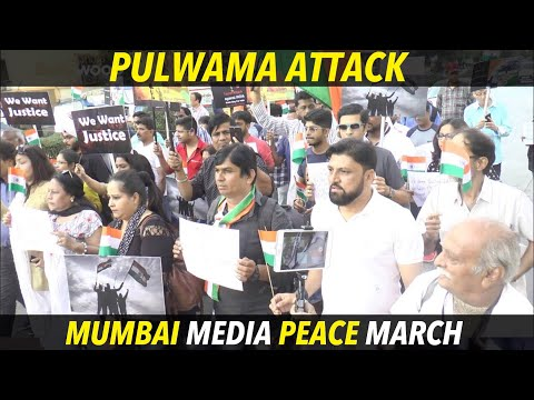 Mumbai Entertainment Media Peace March To Support Indian Army and Defenc Service