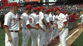 Phillies introduced before home opener