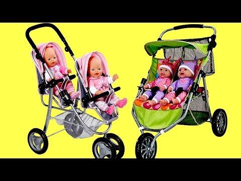 baby-dolls-twin-jogger-stroller-dubble-pram-baby-born-baby-annabell