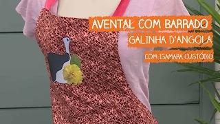 Avental com Barrado Galinha D'angola com Isamara Custódio