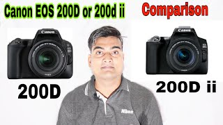 Canon EOS 200D vs 200D mark ii Comparison in ( Hindi )