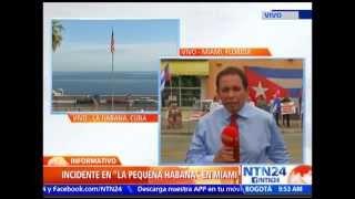 Incidentes en 'la pequeña Habana' en Miami por restablecimiento diplomático entre Cuba y EE.UU.