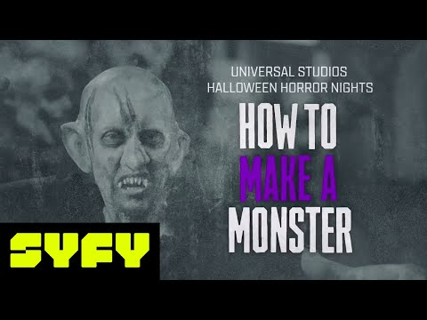 Monster Makeup Tutorial by Universal Hollywood Horror Nights Artist | 31 DAYS OF HALLOWEEN | SYFY