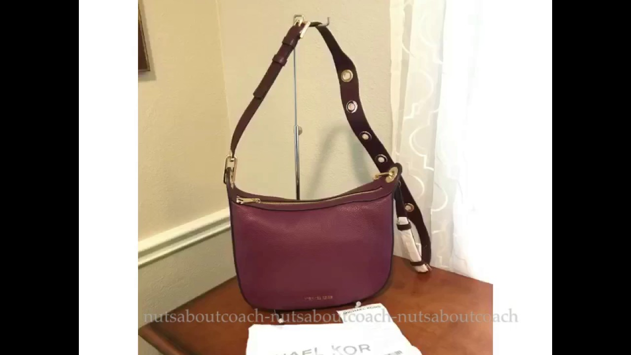d9a8416d8f9cd MICHAEL MICHAEL KORS Raven Medium Leather Messenger Bag-PLUM - YouTube