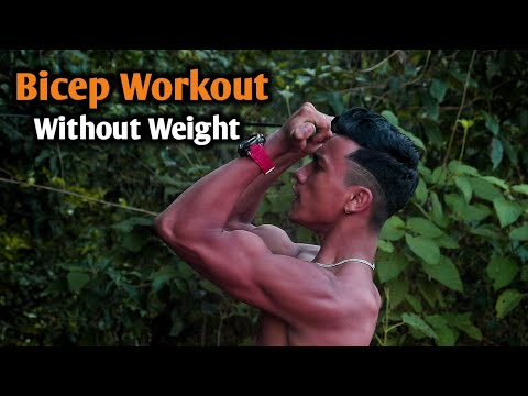 Bicep Workout Without Weights | Poor man's gym