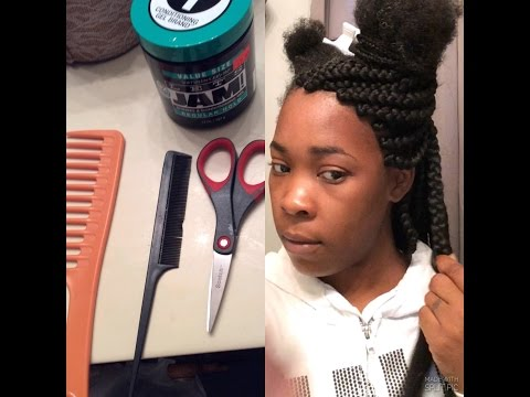 How To Box Braid Your Own Hair| Step by Step
