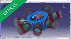 7 Cylinder Radial Engine - Catia v5 Training - Kinematics