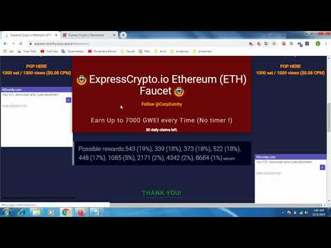 Ethereum (ETH) Faucet | Earn Up To 7000 GWEI Every Time (No Timer !)